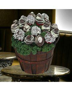 Chocolate Dipped Strawberries Apple Basket
