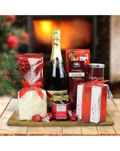 Champagne & Christmas Delights Gift Basket