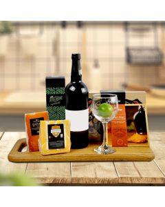 Deluxe Salmon & Wine Gift Basket