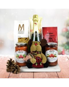 Italy's Christmas Eve Pasta Gift Set With Champagne