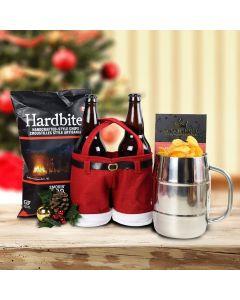Merry Christmas Craft Beer & Snacks Gift Set