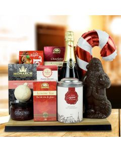 North Pole Delights Gift Basket With Champagne