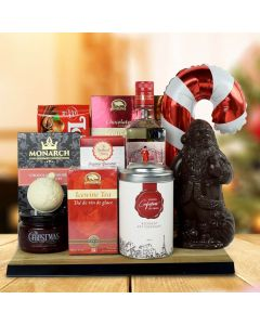 North Pole Delights Gift Basket With Gin