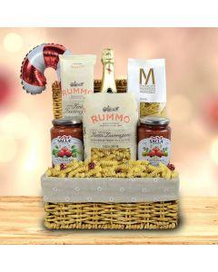 Pasta Extravaganza Christmas Champagne Gift Basket