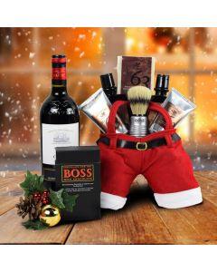 Santa's Shave & Wine Gift Set