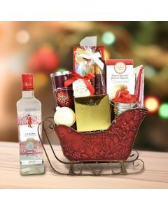 Santa's Sleigh Of Treats With Gin