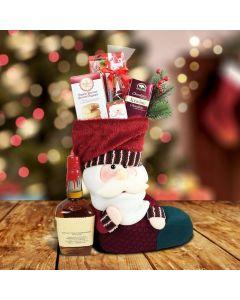 Santa's Stocking Gift Set With Liquor