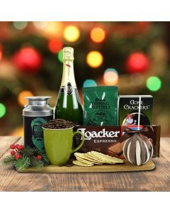 Santa's Warm Comforts Gift Basket With Champagne