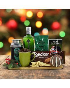 Santa's Warm Comforts Gift Basket With Gin