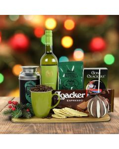 Santa's Warm Comforts Gift Basket With Wine