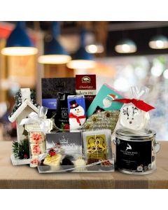 Silver Sleigh Christmas Gift Basket