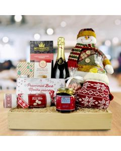 The Happy Snowman Gift Basket