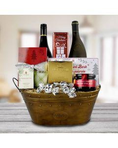 The North Pole Wine Gift Basket
