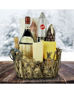 The Rustic Wine Meat and Cheese Gift Basket