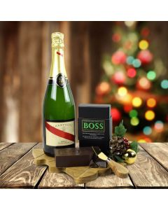 The Champagne & Boss Chocolate Gift Set