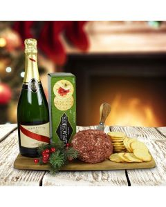 The Cheeseball, Crackers & Champagne Gift Set