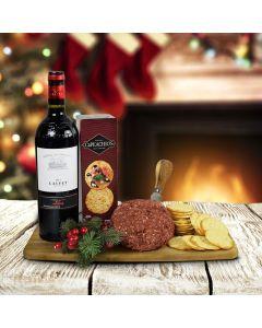 The Cheeseball, Crackers & Wine Gift Set