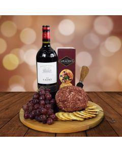 The Cheeseball, Crackers & Wine Platter