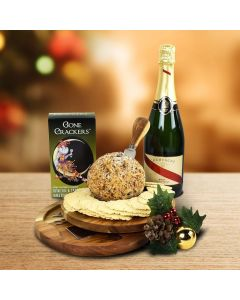 The Holiday Cheeseball Platter With Champagne