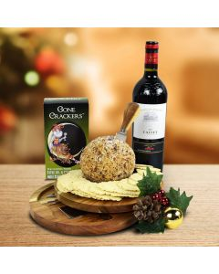 The Holiday Cheeseball Platter With Wine