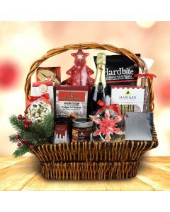 Under The Christmas Tree Champagne Gift Basket