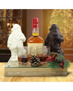Whiskey & Chocolate Santa Gift Set