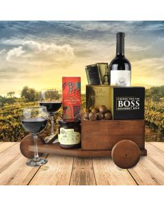The Wine Cart Gift Basket