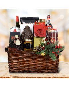 Wine & Holiday Treats Gift Basket