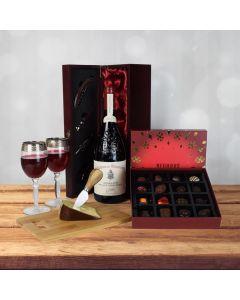 Holiday Wine, Cheese & Chocolate Basket, wine gift baskets, Christmas gift baskets