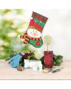 Spa Snowman Stocking Stuffer, spa gift baskets, gourmet gifts, gifts