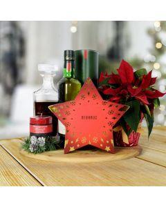 Holiday Liquor & Decanter Basket, liquor gift baskets, Christmas gift baskets