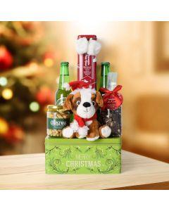 Merry Christmas Beer & Treats Basket, beer gift baskets, Christmas gift baskets