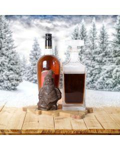 Making Spirits Bright Gift Basket, liquor gift baskets, Christmas gift baskets