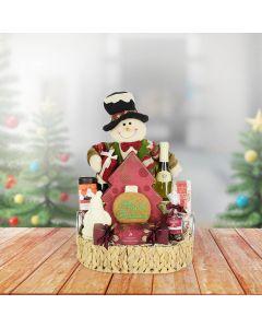 Christmas Wine & Goodies Gift Set, wine gift baskets, Christmas gift baskets, gourmet gift baskets