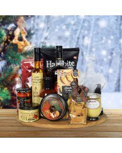 Savory Holiday Feast, liquor gift baskets, Christmas gift baskets