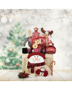 Christmas Surprise Gift Set, champagne gift baskets, Christmas gift baskets, gourmet gift baskets