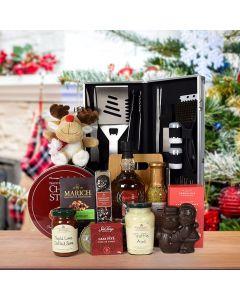 Holiday Grilling Basket, liquor gift baskets, Christmas gift baskets