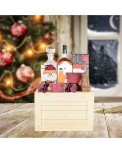 Grand Christmas Liquor Crate, liquor gift baskets, Christmas gift baskets, gourmet gift baskets
