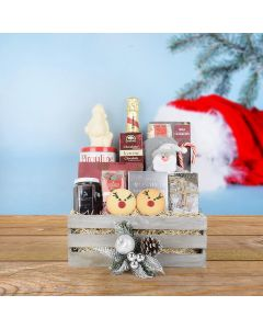 Silent Night Gift Crate, champagne gift baskets, gourmet gifts, gifts