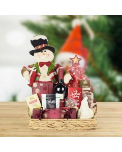 The Happy Snowman Gift Basket, wine gift baskets, gourmet gifts, gifts