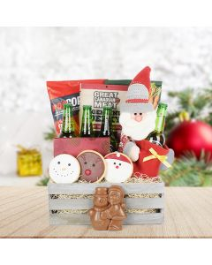 Holiday Hops Beer and Treats Crate, beer gift baskets, gourmet gifts, gifts