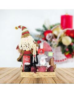"""""""Twas the Night"""" Champagne Gift Basket, champagne gift baskets, gourmet gifts, gifts"""