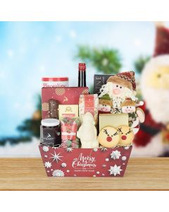 """""""And All Through the House"""" Liquor Gift Basket, liquor gift baskets, gourmet gifts, gifts"""