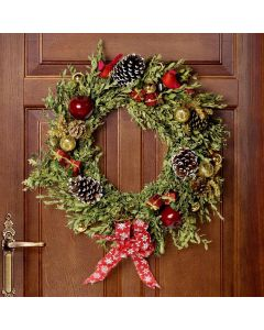 Deluxe Christmas Wreath, floral gift baskets, Christmas gift baskets, plant gift baskets