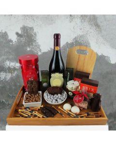 A Golfer's Christmas Wine Gift Basket