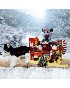 The Christmas Husky Dog Sled Gift