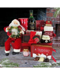 """""""And All Through the House"""" Liquor Gift Basket"""
